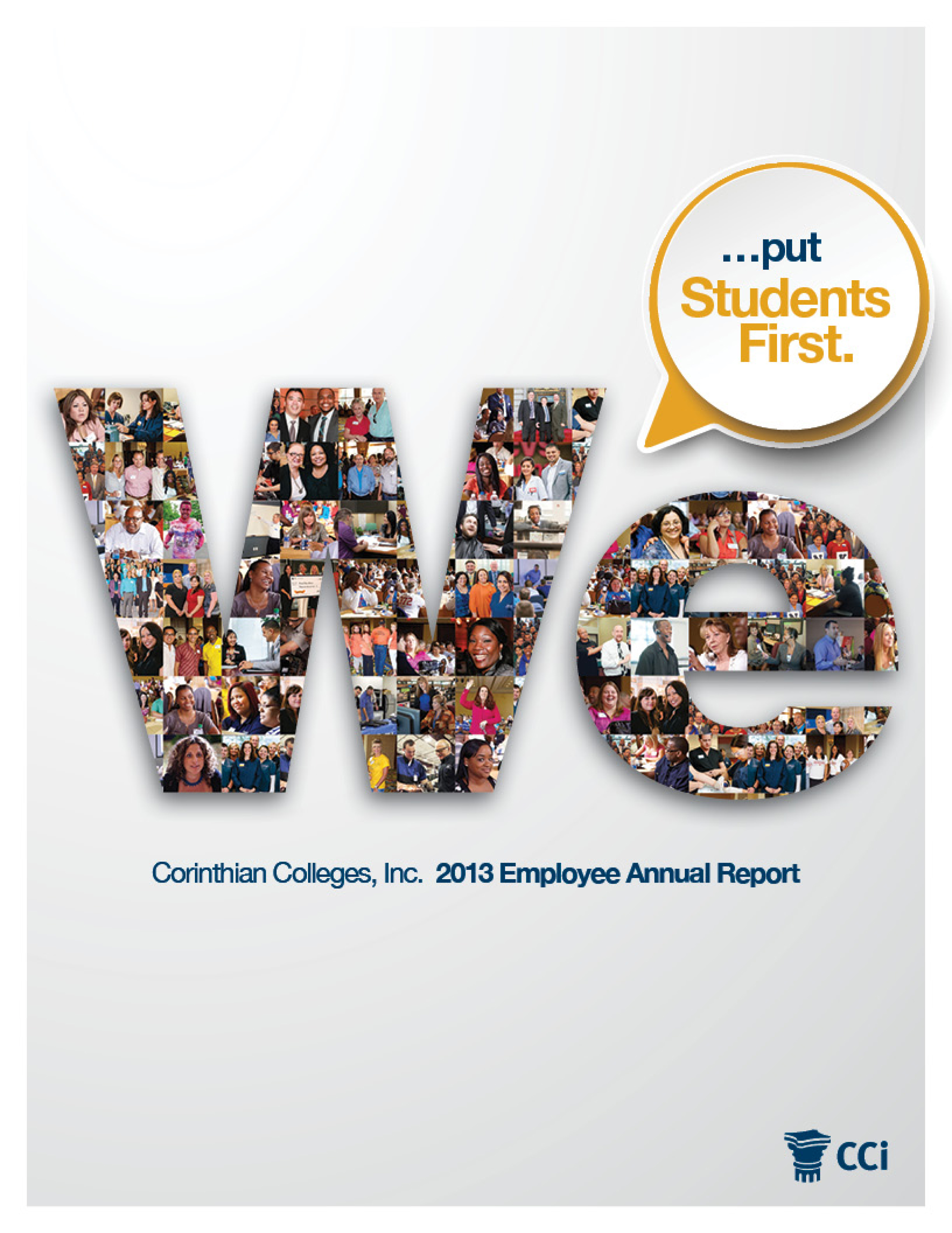 Corinthian Colleges' Employee Annual Report for 2013_cover
