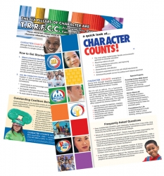 Character Counts brochure - copy writing