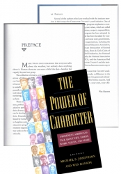 The Power of Character - project management, partial ghostwriting, editing
